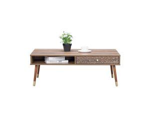"""Τραπέζι σαλονιού """"VICTORIA"""" σε χρώμα καφέ 110x59x40"""