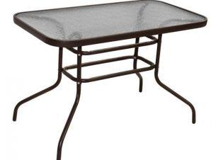 """Τραπέζι """"CARLOS"""" μεταλλικό σε καφε χρώμα 140x80x70"""