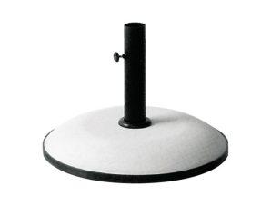 Βάση ομπρέλας τσιμέντου 35kg. σε λευκό χρώμα Φ50