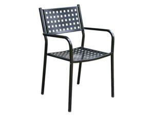 """Πολυθρόνα """"CAPRICE"""" μεταλλική σε μαύρο χρώμα 54x51x84"""