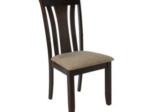 """Καρέκλα """"MOLTEN"""" ξύλινη-υφασμάτινη σε σκούρο καρυδί 48x55x100"""