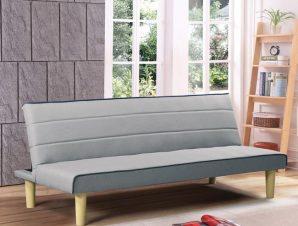 """Καναπές-κρεβάτι """"PABLO"""" από ύφασμα σε γκρι χρώμα 210x89x84"""
