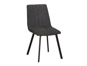 """Καρέκλα """"BETTY"""" μεταλλική-υφασμάτινη σουετ σε ανθρακί χρώμα 45x60x87"""