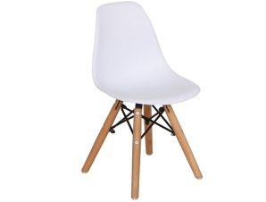 """Καρέκλα """"ART Wood Kid"""" ξύλινη/pp σε λευκό χρώμα 32x34x57"""