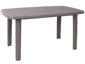 """Τραπέζι """"SORRENTO"""" από PP σε χρώμα τορτόρα 140x80x74"""