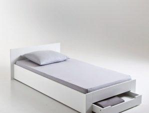 Μονό κρεβάτι με σανίδες και αποθηκευτικό χώρο, ASPEN