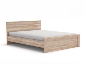 """Κρεβάτι """"NORTON 140"""" ημίδιπλο σε χρώμα σονόμα-δρυς 145x205x85"""