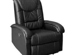 """Πολυθρόνα μασάζ """"RELAX"""" από PU σε χρώμα μαύρο 80x96x97"""