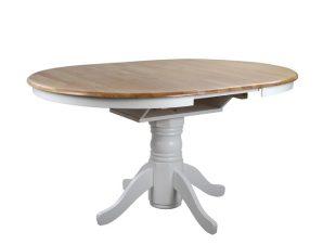 """Τραπέζι ανοιγόμενο """"COUNTRY STYLE"""" ξύλινο σε χρώμα φυσικό/λευκό Φ106×78"""