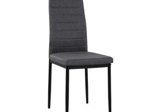 """Καρέκλα """"LADY"""" από μέταλλο/ύφασμα σε χρώμα γκρι 40x48x95"""