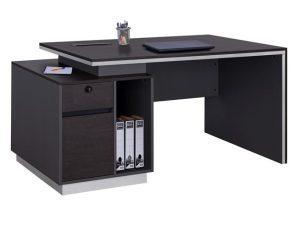 """Γραφείο επαγγελματικό """"ROSEWOOD"""" με αριστερό ντουλάπι σε χρώμα γκρι-βέγγε 180x80x76"""