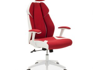 """Πολυθρόνα διευθυντή """"MOMENTUM"""" από ύφασμα mesh σε χρώμα κόκκινο 62x58x122/130"""