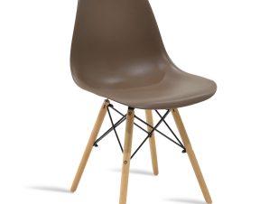 """Καρέκλα """"JULITA"""" pp σε χρώμα μόκα-φυσικό 46x50x82"""