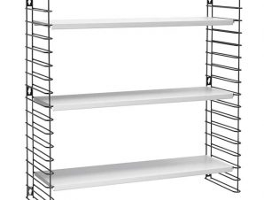 Ραφιέρα Επιτοίχια 3 Όροφη Μεταλλική Libro 70x21x68εκ. Metaltex (Υλικό: Μεταλλικό) – METALTEX – 377603