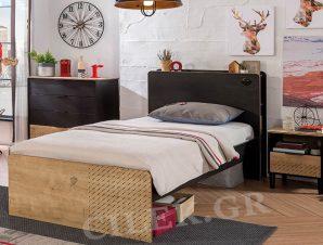 Παιδικό κρεβάτι ημίδιπλο BL-1303 USB CHARGING